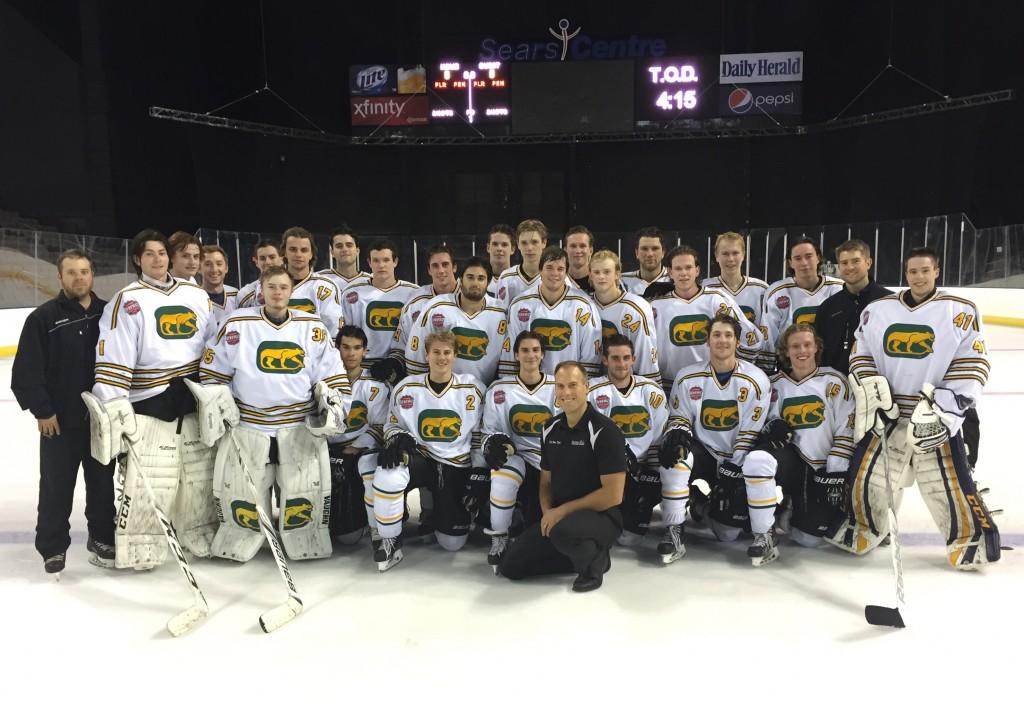 image of the Barrington cougars hockey team