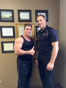 Nick and Jason working together - VanNess Chiropractor - Barrington Chiropractor