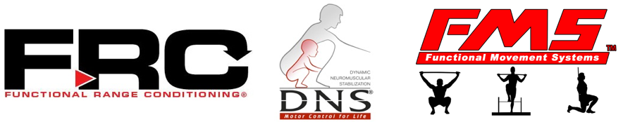 corrective exercise and Functional Movement Screening logos
