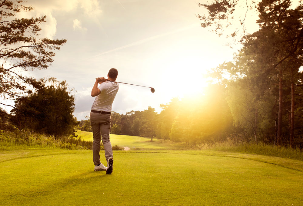 Playing golf on a sunny day | Barrington Chiropractor | VanNess Chiropractic